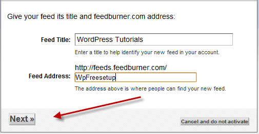 setup Blog feed How to Create WordPress Blog Feed Using Feedburner