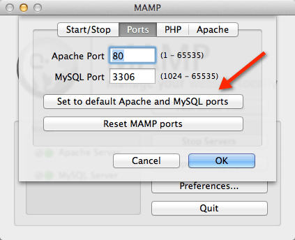 MAMP default port How to Install WordPress Locally on Mac Using MAMP
