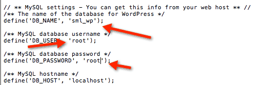 edited wp config How to Install WordPress Locally on Mac Using MAMP