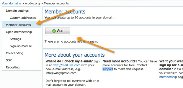 create user Email address