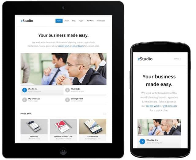 Responsive business blog theme