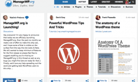 ManageWP.org : Social Bookmarking Site for WordPress Fans