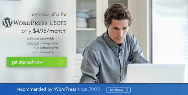 WordPress shared hosting